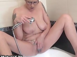 tattooed mature housewife playing part9