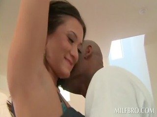 lucky housewife gets her lusty cum-hole black
