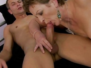 grandma enjoying naughty sex with young dude