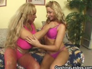 mature lesbian doxy acquires drilled with fake
