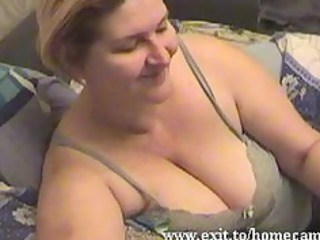 emily 110 years with large tits plays at home