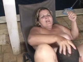 pool lad gazoo fucks a big granny
