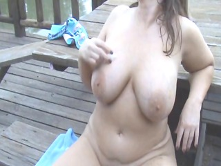 chubby dark brown with big wobblers acquire pussy