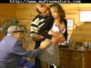 sharing his wife with old stud aged mature porn