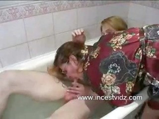 mommy son having sex in bathroom tub
