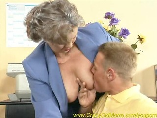 busty mama receives fucked in the office