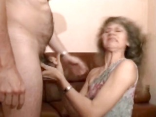 cougar golden-haired gets screwed in nylons
