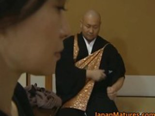 japanese older lady is in for threesome hot part4