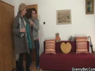 mature blonde is picked up and brought home to