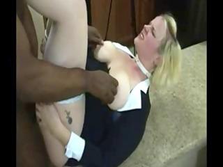 pornslut enjoys bbc with tons of cum