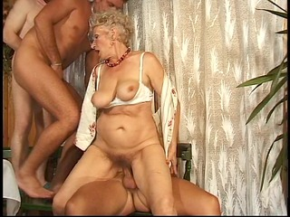granny has fun with cocks