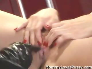 busty blonde bitch goddess copulates her flat