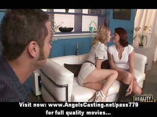 hot hawt swinger cuties have their slit licked