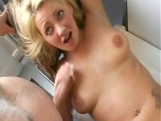 different videos of old and youthful doing oral