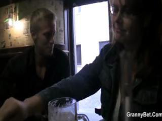 busty aged gets picked uup in a bar and taken