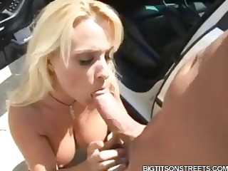 breasty golden-haired holly halston brings home
