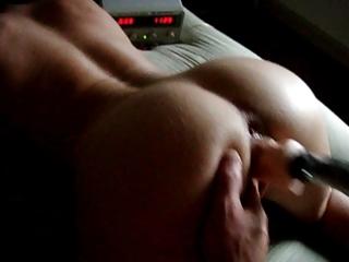 wife rides homemade machine!