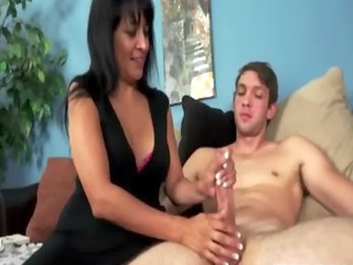 busty mature mother i chick gives tugjob to this