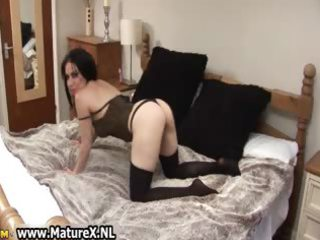 sexually excited older housewife in dark part2