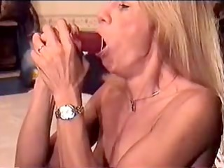 slut practices with different dildos