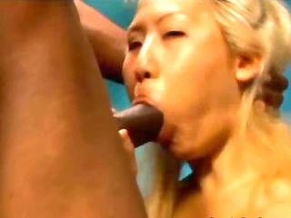 horny oriental sweetheart fucks with a black lad