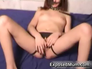 perverted mom bawdy cleft screwed by a fake penis