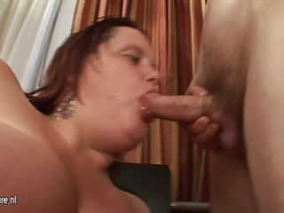 big titted mother engulfing her butt off