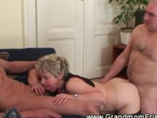lewd granny loves her dongs to suck and fuck