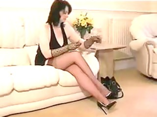 nylon granny in ffstockings mature aged porn