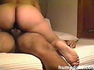 latin wife with large booty riding hubbys wang