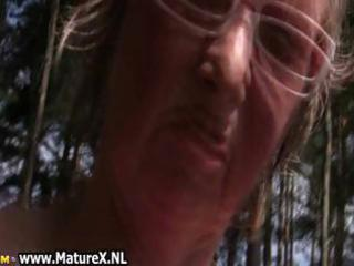 lustful aged lady can nudism and plays part7
