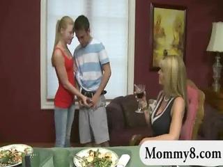 breasty stepmom seduces pair legal age teenager