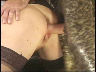 mouthful of ramrod for older blond