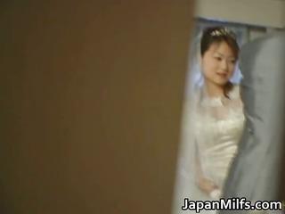 oriental bride receives hardcore group fucking