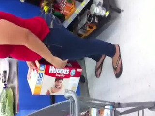 latin mother i candid arse at walmart in baton