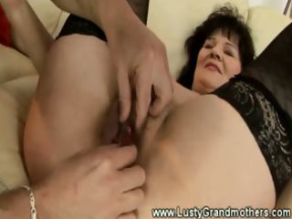 mature amateur granny manually stimulated with