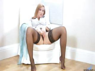 breasty office milf receives off when she is gets