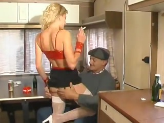 cheap french hooker screwed & sprayed by an