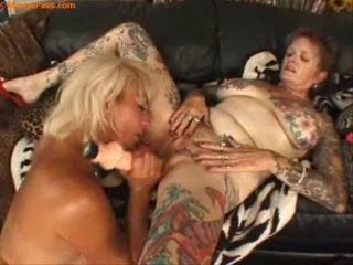 tattooed aged lesbian babes