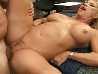breasty blonde milf pick up a man and fucking