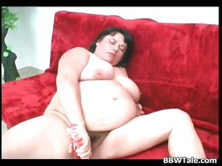 solo act by some chunky whore dildoing part0
