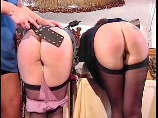 two cute asses getting spanked