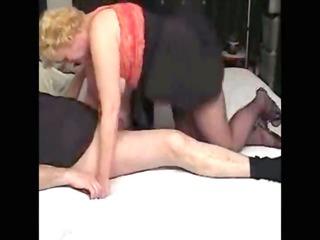 naughty auntie footjob