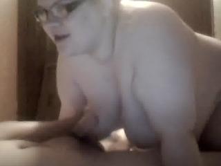 engulfing knob on web camera and eating cum