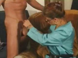 nasty brunette older french whore munches on his