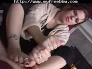 chubby wife tugjob footjob bbw corpulent bbbw