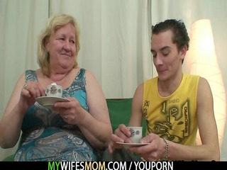 giant granny is team-fucked by her son in law