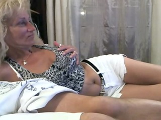 blonde mature retro porn teasing at cam