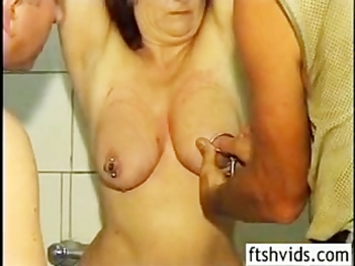 older redhead cleaned spanked and fucked from