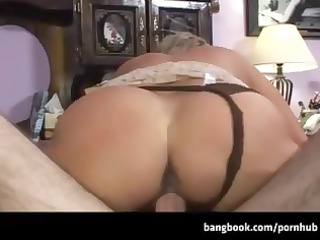 blonde cougar with worthy bumpers takes his